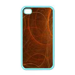 Fractal Color Lines Apple Iphone 4 Case (color)