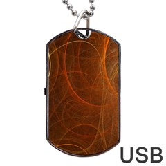 Fractal Color Lines Dog Tag USB Flash (Two Sides)