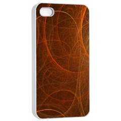 Fractal Color Lines Apple iPhone 4/4s Seamless Case (White)