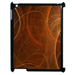 Fractal Color Lines Apple iPad 2 Case (Black)
