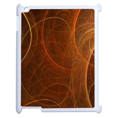 Fractal Color Lines Apple iPad 2 Case (White)
