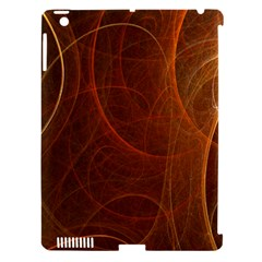 Fractal Color Lines Apple iPad 3/4 Hardshell Case (Compatible with Smart Cover)