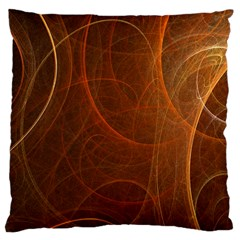Fractal Color Lines Large Cushion Case (Two Sides)