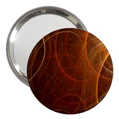Fractal Color Lines 3  Handbag Mirrors
