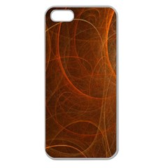 Fractal Color Lines Apple Seamless iPhone 5 Case (Clear)