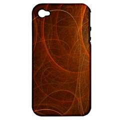 Fractal Color Lines Apple iPhone 4/4S Hardshell Case (PC+Silicone)
