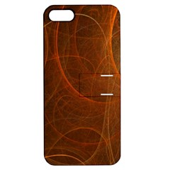 Fractal Color Lines Apple iPhone 5 Hardshell Case with Stand