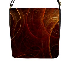 Fractal Color Lines Flap Messenger Bag (L)