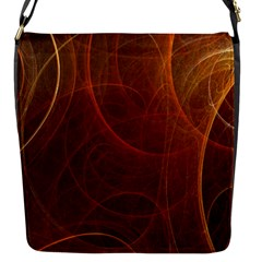 Fractal Color Lines Flap Messenger Bag (S)