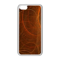 Fractal Color Lines Apple iPhone 5C Seamless Case (White)