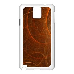 Fractal Color Lines Samsung Galaxy Note 3 N9005 Case (White)