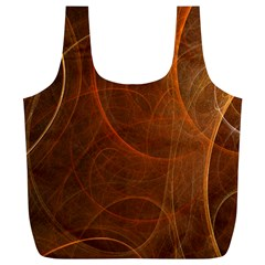 Fractal Color Lines Full Print Recycle Bags (L)
