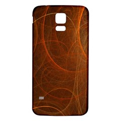 Fractal Color Lines Samsung Galaxy S5 Back Case (White)