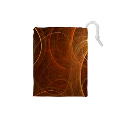 Fractal Color Lines Drawstring Pouches (Small)