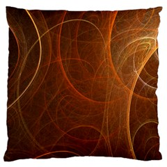 Fractal Color Lines Large Flano Cushion Case (Two Sides)