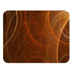 Fractal Color Lines Double Sided Flano Blanket (Large)