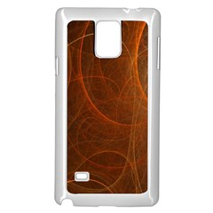 Fractal Color Lines Samsung Galaxy Note 4 Case (White)