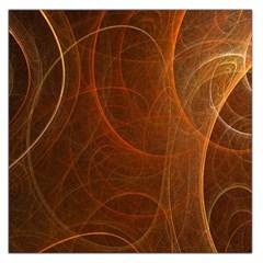 Fractal Color Lines Large Satin Scarf (Square)