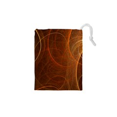 Fractal Color Lines Drawstring Pouches (XS)