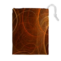 Fractal Color Lines Drawstring Pouches (Extra Large)