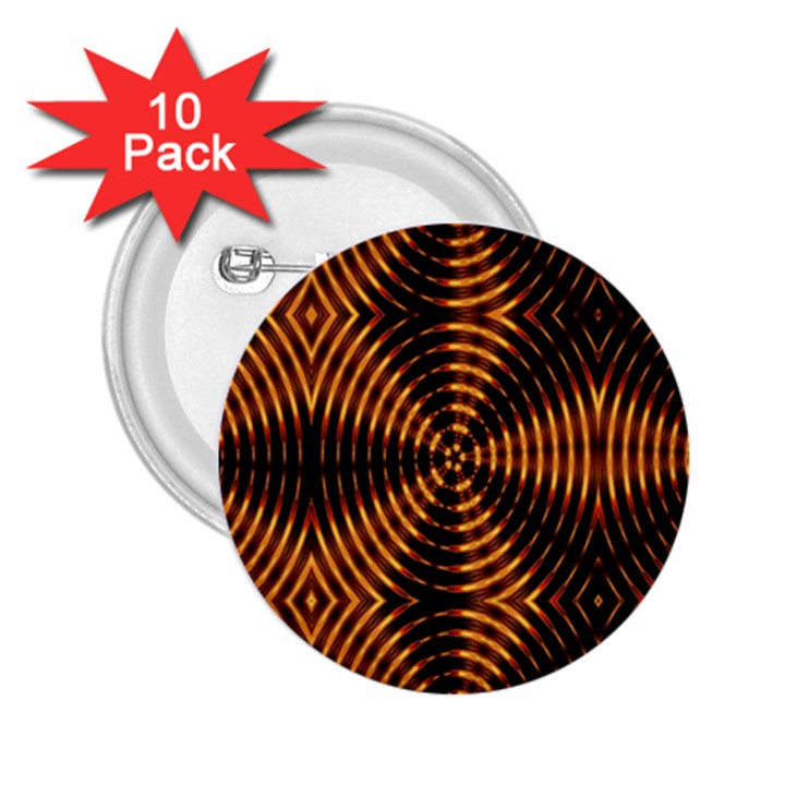 Fractal Patterns 2.25  Buttons (10 pack)