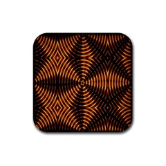 Fractal Patterns Rubber Square Coaster (4 pack)