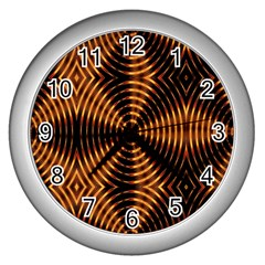 Fractal Patterns Wall Clocks (Silver)