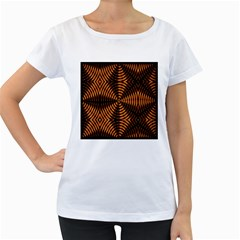 Fractal Patterns Women s Loose-Fit T-Shirt (White)