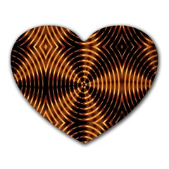 Fractal Patterns Heart Mousepads