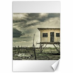 Traditional Cane House At Guayas District Ecuador Canvas 20  x 30