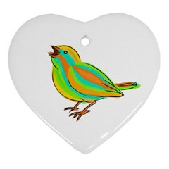 Bird Ornament (Heart)
