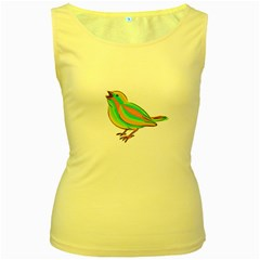 Bird Women s Yellow Tank Top
