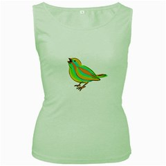 Bird Women s Green Tank Top
