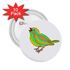 Bird 2.25  Buttons (10 pack)