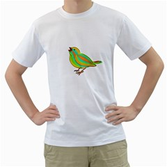 Bird Men s T-Shirt (White) (Two Sided)