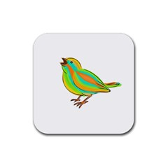 Bird Rubber Square Coaster (4 pack)