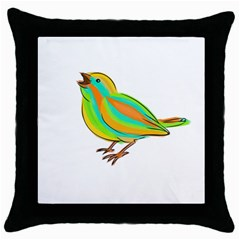 Bird Throw Pillow Case (Black)