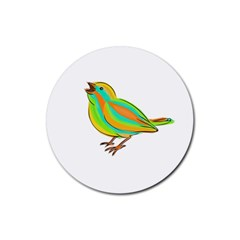 Bird Rubber Round Coaster (4 pack)