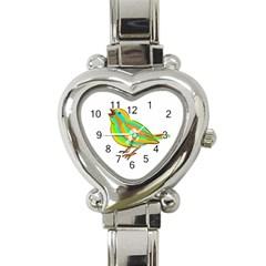 Bird Heart Italian Charm Watch