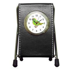 Bird Pen Holder Desk Clocks