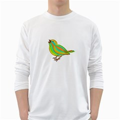 Bird White Long Sleeve T-Shirts