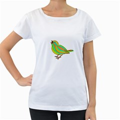 Bird Women s Loose-Fit T-Shirt (White)