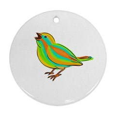 Bird Round Ornament (Two Sides)