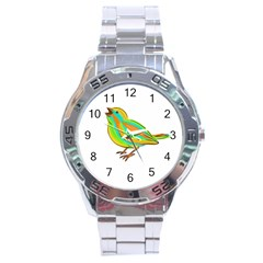Bird Stainless Steel Analogue Watch