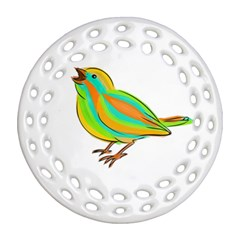 Bird Ornament (Round Filigree)