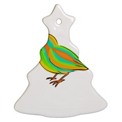 Bird Christmas Tree Ornament (Two Sides)