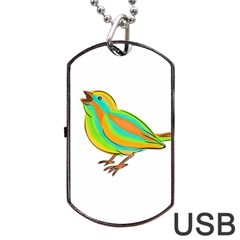 Bird Dog Tag USB Flash (One Side)