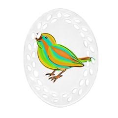 Bird Ornament (Oval Filigree)