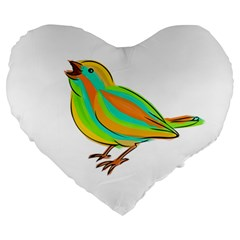 Bird Large 19  Premium Heart Shape Cushions