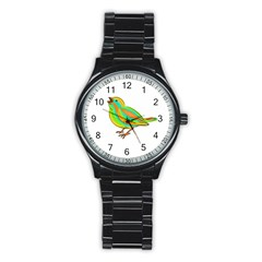 Bird Stainless Steel Round Watch